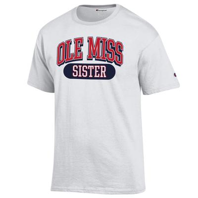 OLE MISS SISTER SS TEE WHITE