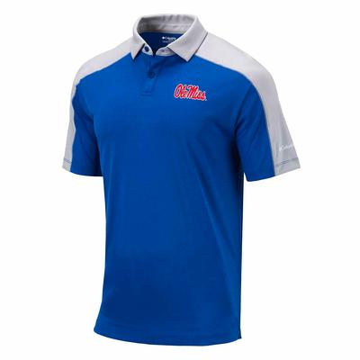 OLE MISS MENS OMNI-WICK BRACKET POLO AZUL