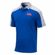OLE MISS MENS OMNI-WICK BRACKET POLO