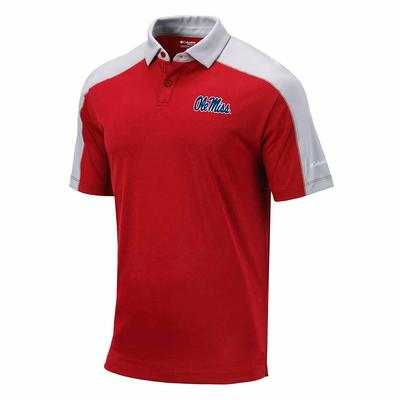 OLE MISS MENS OMNI-WICK BRACKET POLO RED