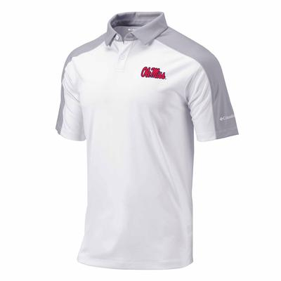 OLE MISS MENS OMNI-WICK BRACKET POLO WHITE