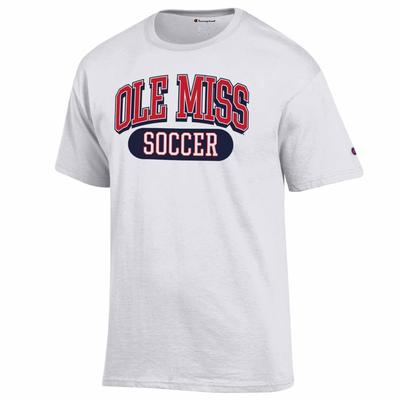 OLE MISS SOCCER SS TEE WHITE