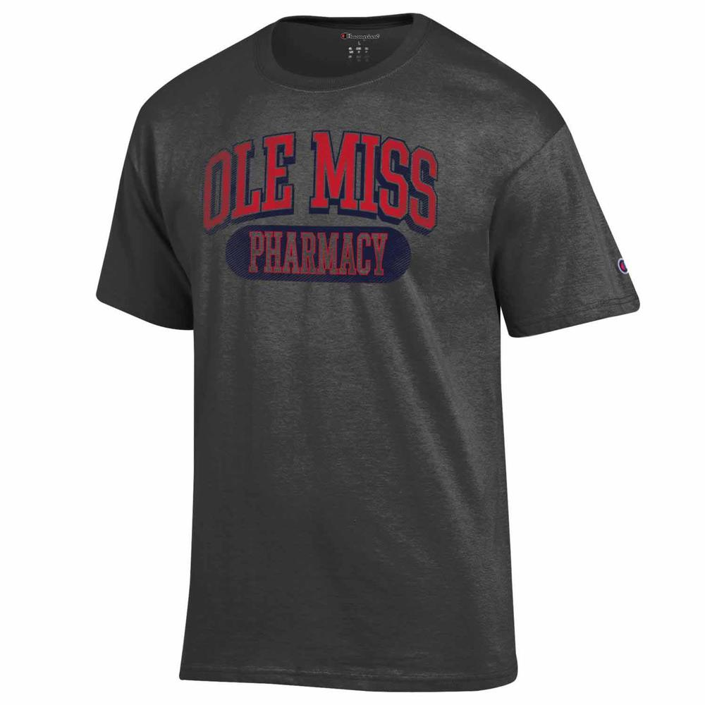Distressed Ole Miss Pharmacy Ss Tee