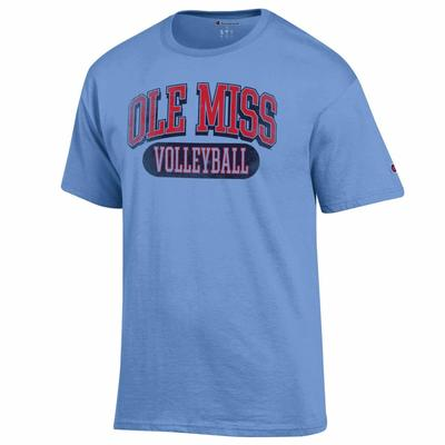 DISTRESSED OLE MISS VOLLEYBALL SS TEE