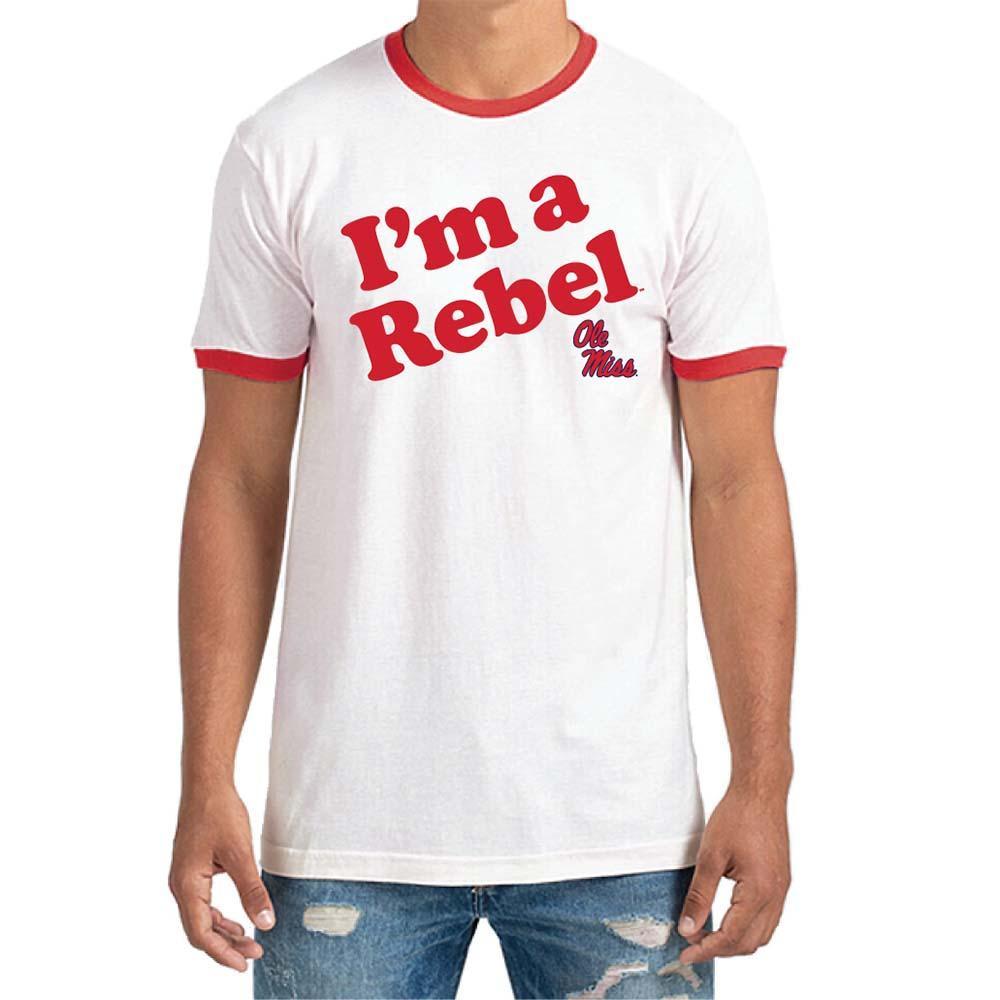 Im A Rebel Ringer Tee