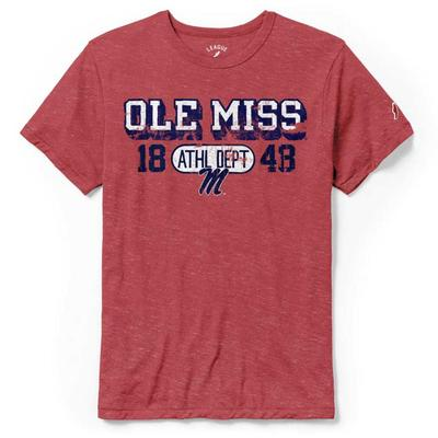 OLE MISS ATHL DEPT 1848 TEE RED
