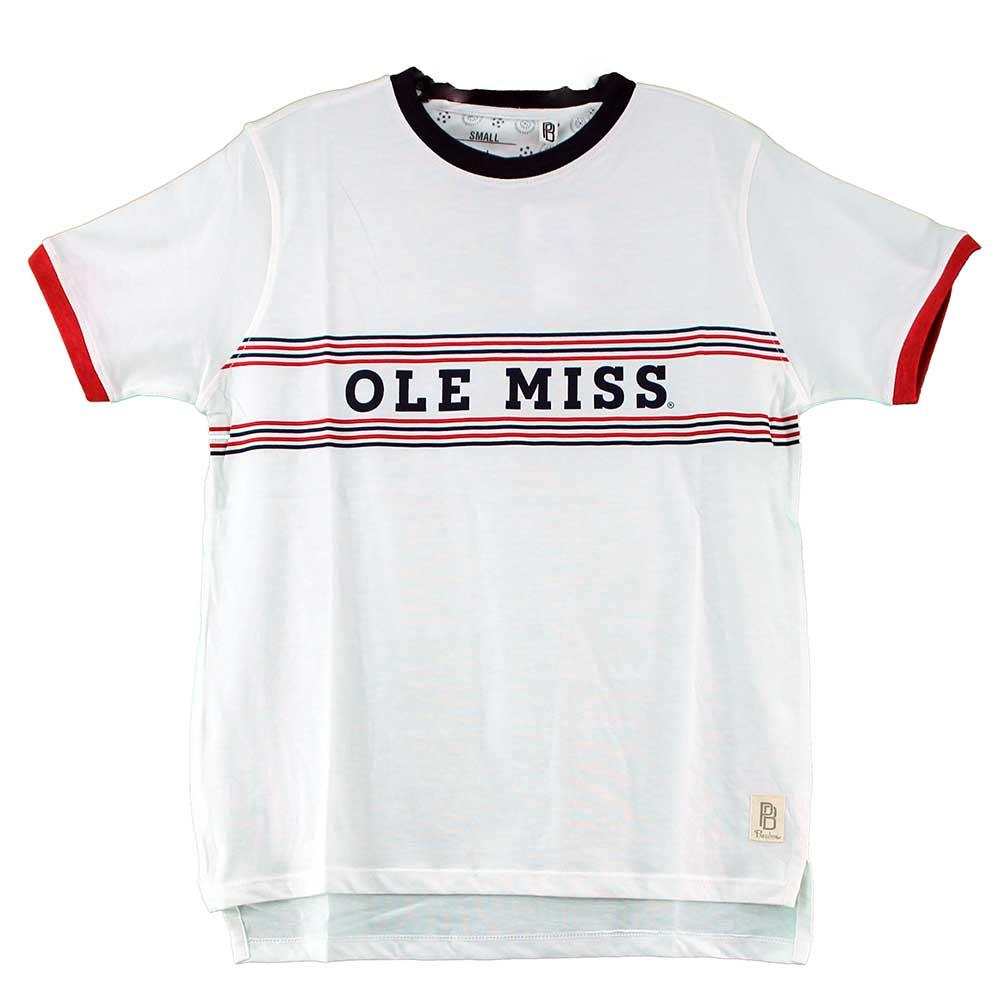 Ss Ole Miss Coyote Jersey Ringer Tee
