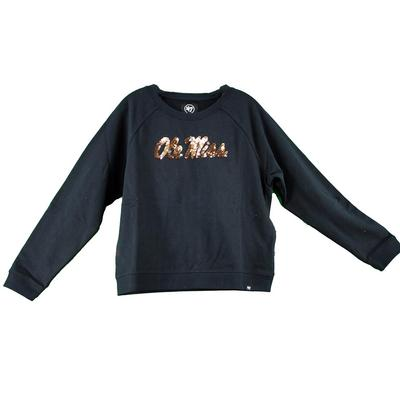 WOMENS OLE MISS COSMO CREW NAVY
