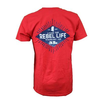 OLE MISS LIVING THE LIFE SS TEE