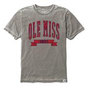 OLE MISS REBELS SS BURNOUT CREWNECK TEE