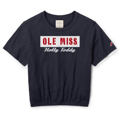 OLE MISS HOTTY TODDY CLOTHESLINE COTTON BANDED CREW