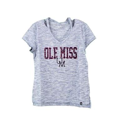 OLE MISS HAZE CUT OUT VNECK TEE