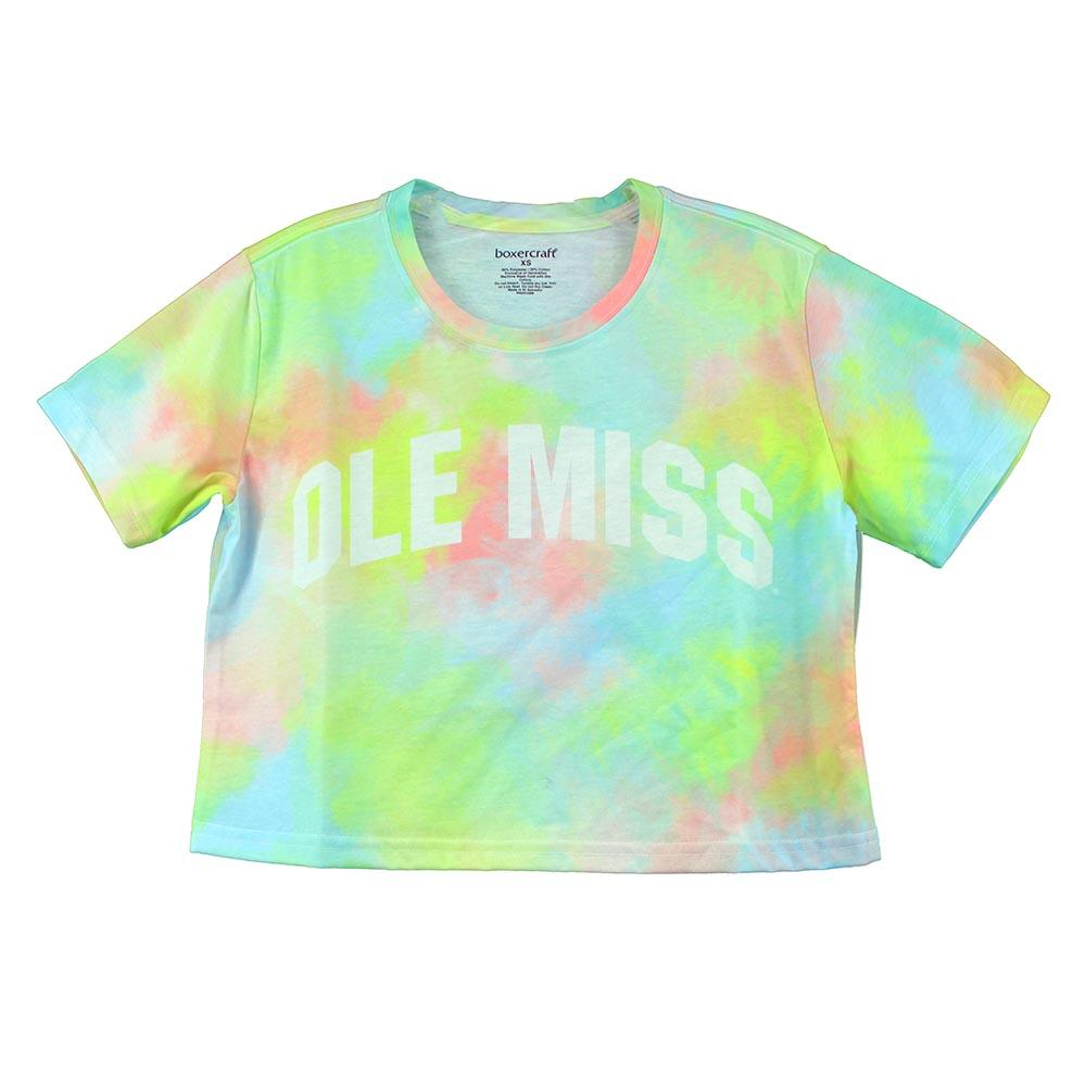 Ole Miss Ladies Cropped Sublimation Tee