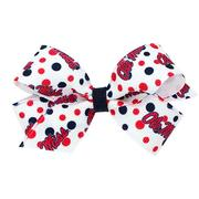 MINI COLLEGE PRINT BOW