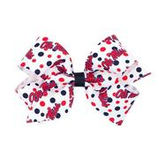 MED COLLEGE PRINT BOW