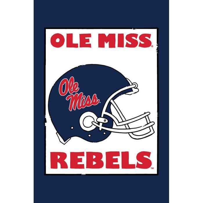 Om Rebels Helmet Garden Flag