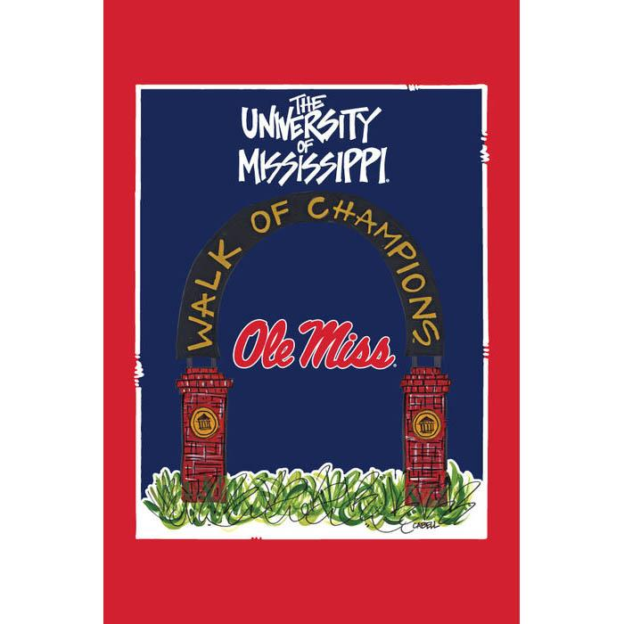 Om Walk Of Champs Garden Flag