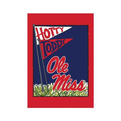 OLE MISS HOUSE FLAG RED
