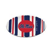OLE MISS 12 INCH OVAL STRIPED PLATTER