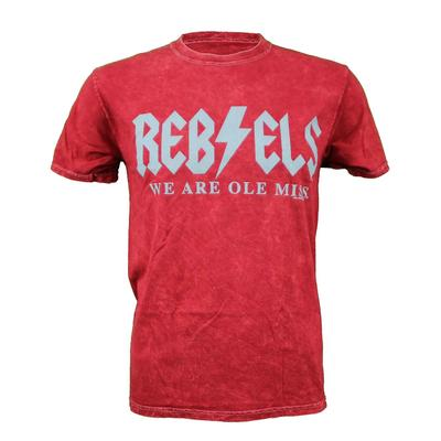 REBELS WE ARE OLE MISS BOLT SS TEE MINERAL_RED