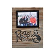 OLE MISS 5X7 WOOD PLANK FRAME