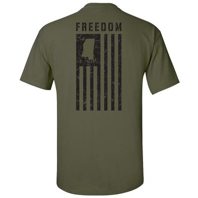 OXFORD MS FREEDOM SS TEE MILITARY_GREEN