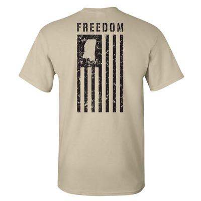 OXFORD MS FREEDOM SS TEE SAND