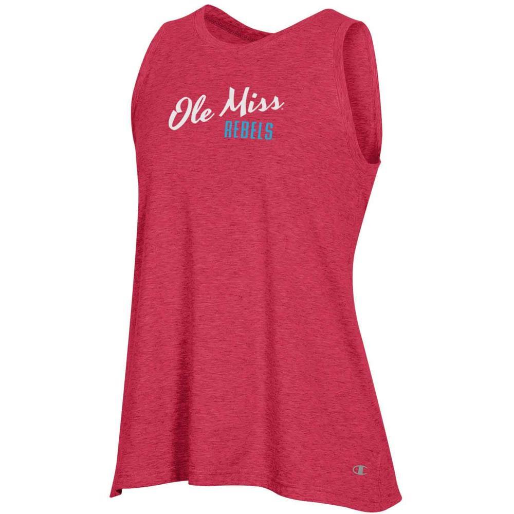 Ole Miss Womens Field Day Tie Back Tank