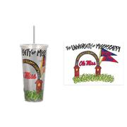 OLE MISS 22 OZ TUMBLER WITH STRAW