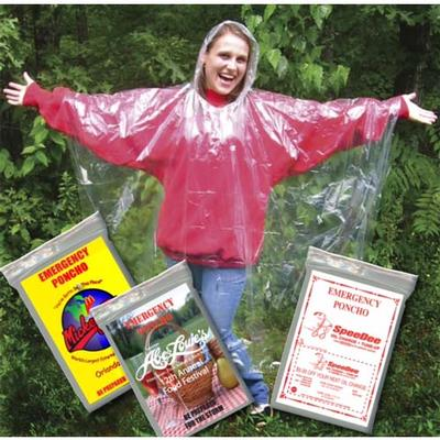 BLANK CLEAR EMERGENCY PONCHO