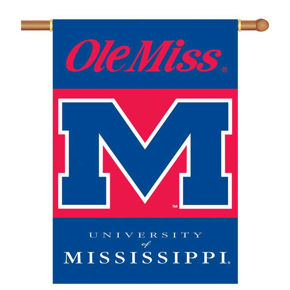Ole Miss Rebels 2- Sided 28x40 Banner W Pole Sleeve