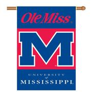 OLE MISS REBELS 2-SIDED 28X40 BANNER W POLE SLEEVE