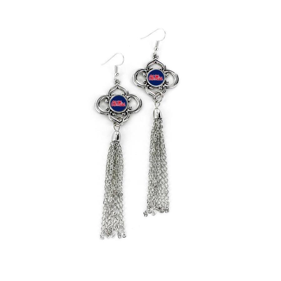 Om Crystal Tassel Earrings