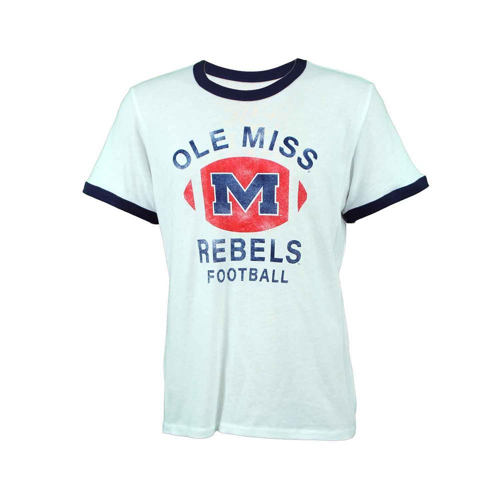 Ole Miss Football Keeper Ringer Tee