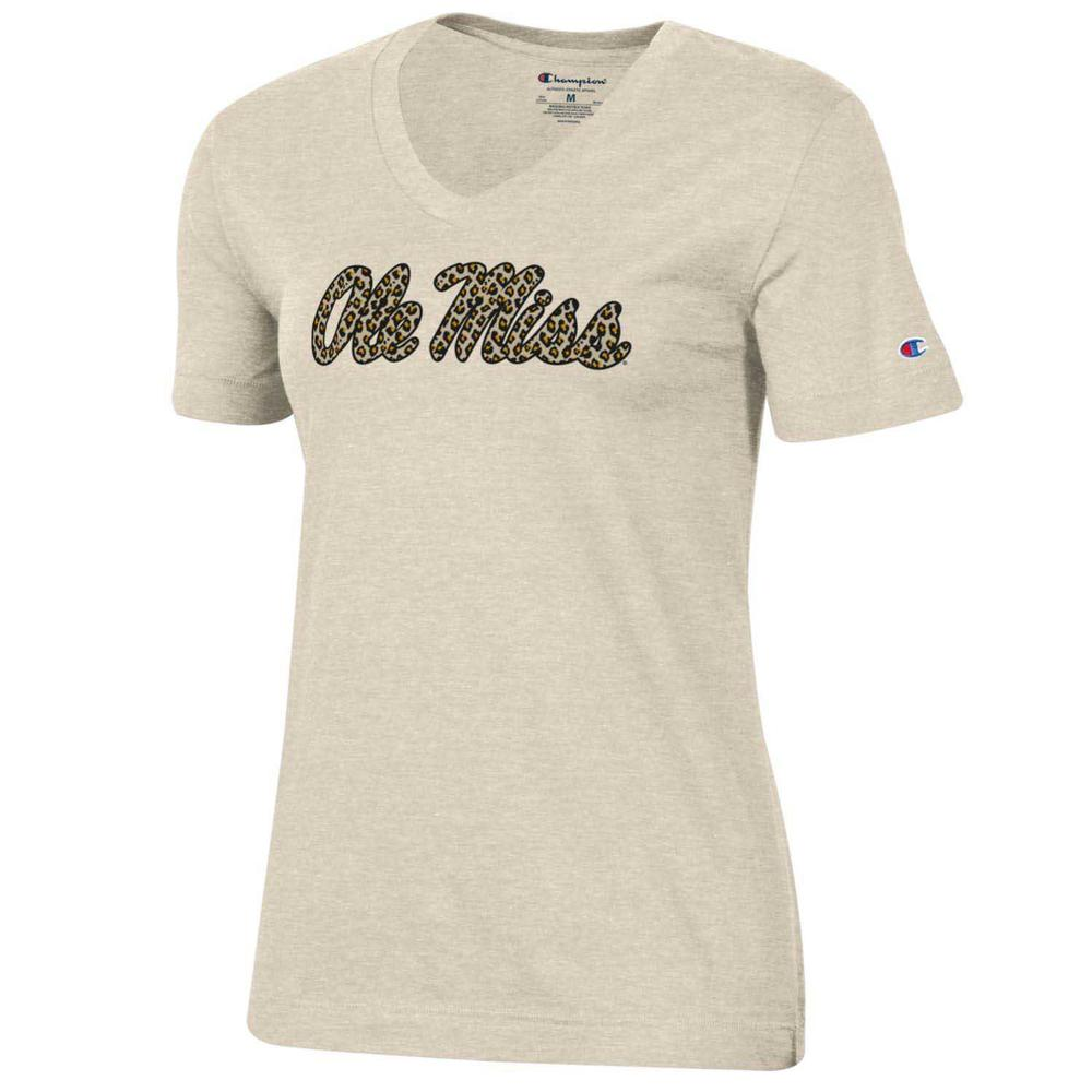 Ole Miss Cheetah University 2.0 Ss V- Neck Tee