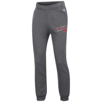OLE MISS REBELS YOUTH ECO POWERBLEND YOUTH JOGGER GRANITE