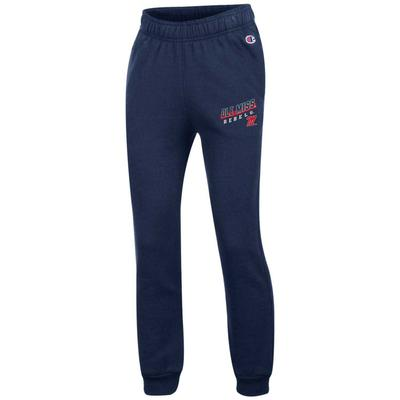 OLE MISS REBELS YOUTH ECO POWERBLEND YOUTH JOGGER NAVY