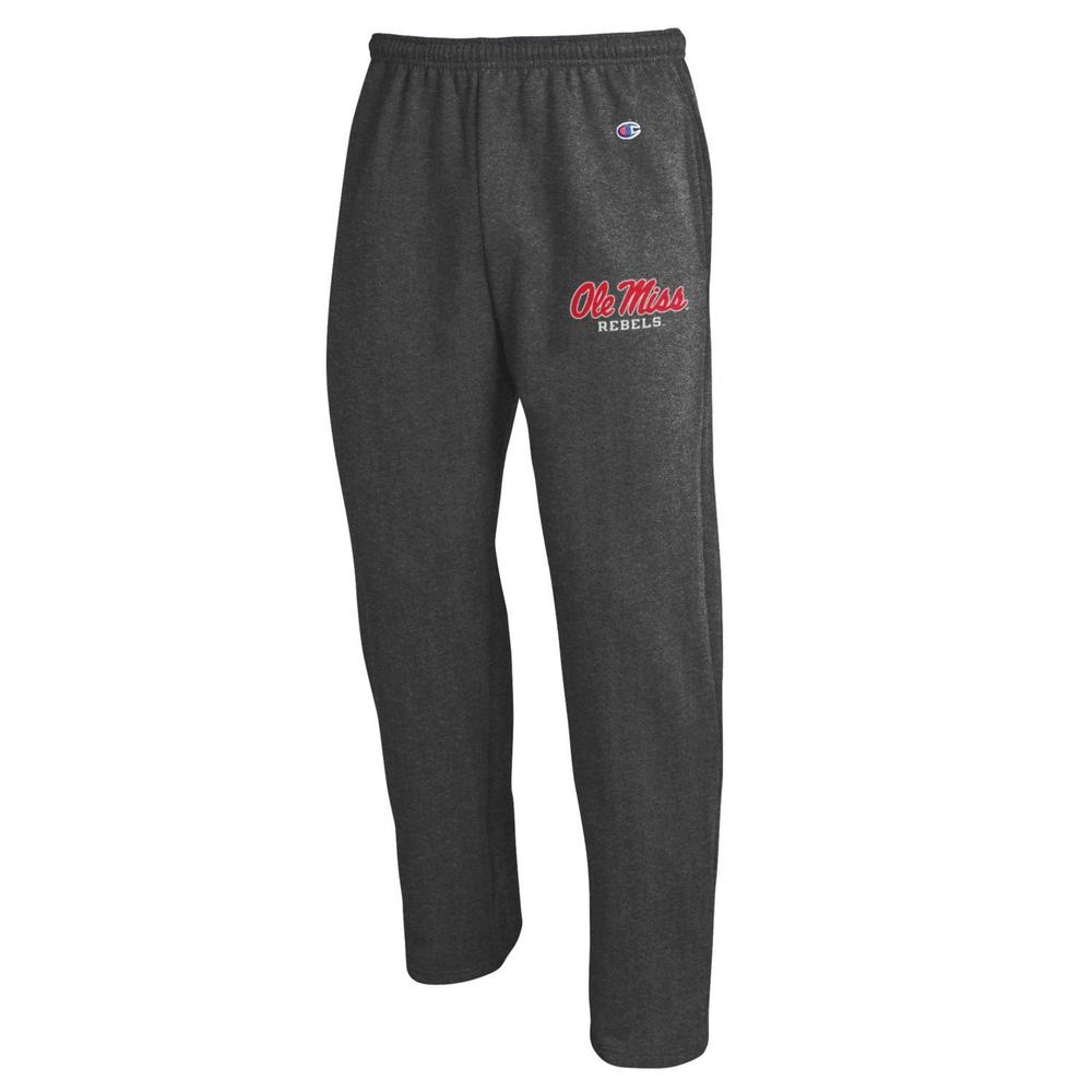 Ole Miss Champion Eco Powerblend Open Bottom Pant