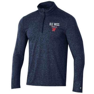 OLE MISS CHAMPION MENS FIELD DAY QUARTER ZIP NAVY