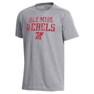 OLE MISS YOUTH FIELD DAY SS TEE OXFORD_GREY