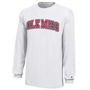 OLE MISS YOUTH LS JERSEY TEE