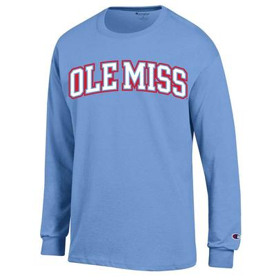 OLE MISS YOUTH LS JERSEY TEE LIGHT_BLUE