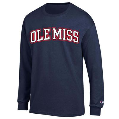 OLE MISS YOUTH LS JERSEY TEE NAVY