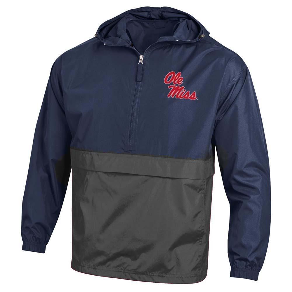 Color Block Packable Jacket