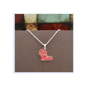 OLE MISS FANTASTIC NECKLACE SILVER
