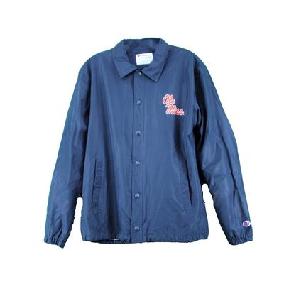 OLE MISS COACHES JACKET NAVY