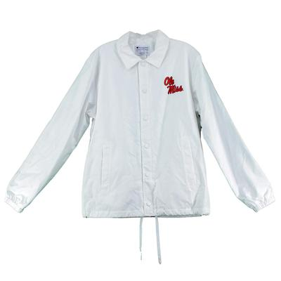 OLE MISS COACHES JACKET WHITE