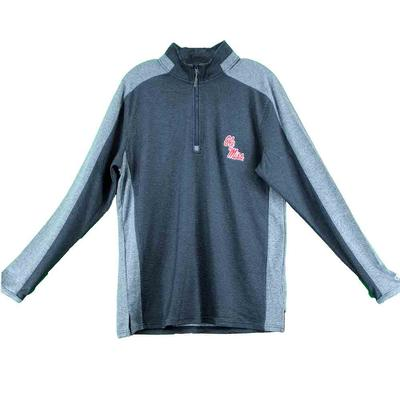 OLE MISS SCHOOL PRIDE QTR ZIP