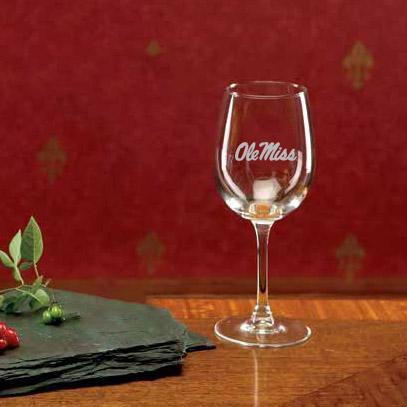 12oz Ole Miss Wine Glass