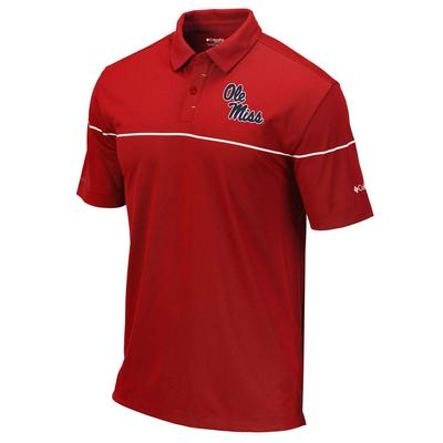 OM MENS OMNI-WICK BREAKER POLO INTENSE_RED